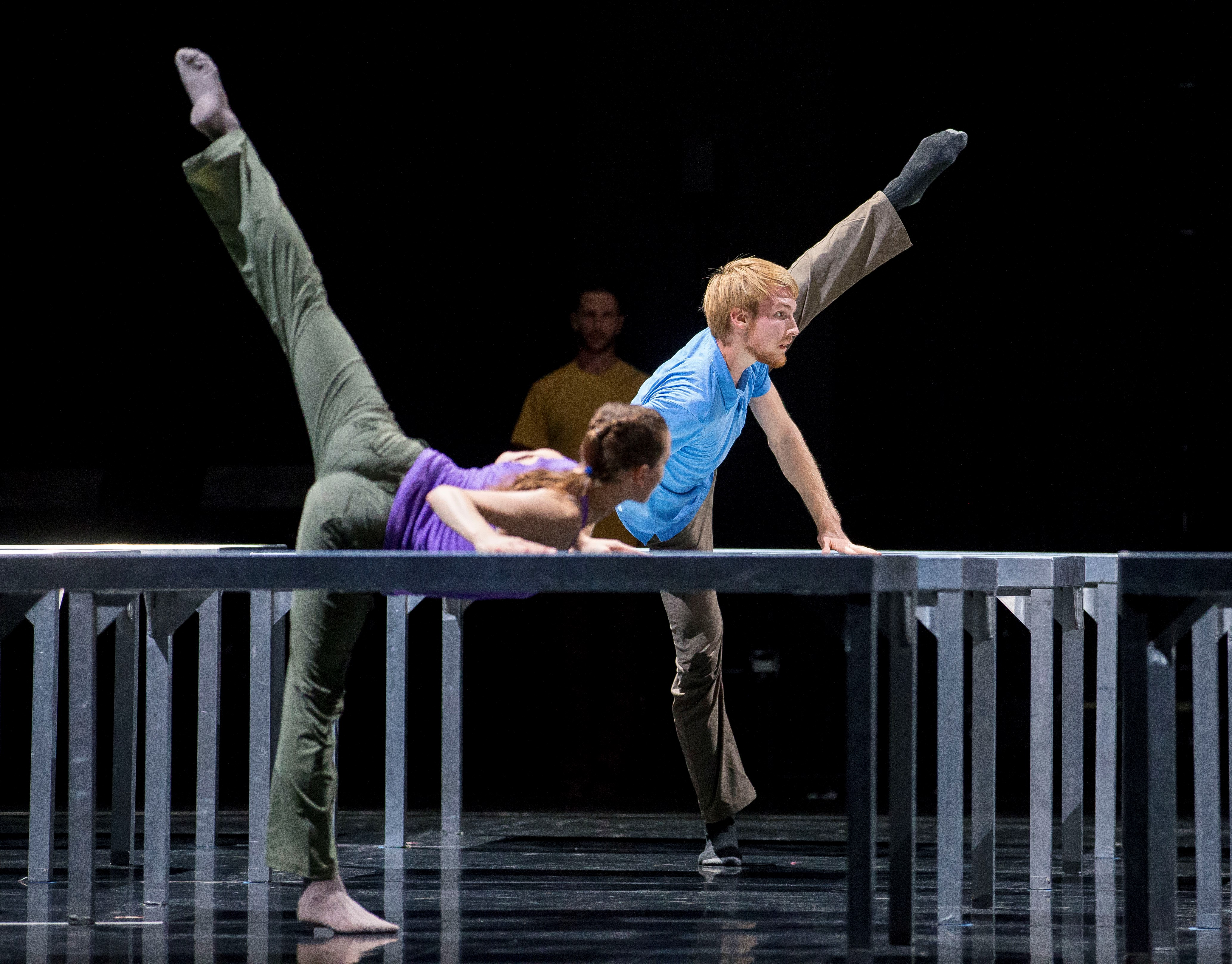 Florian Lochner in William Forsythe's One Flat Thing, reproduced